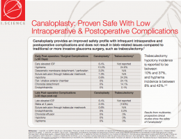 Canaloplasty Safety Profile