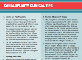 canaloplasty clinical tips